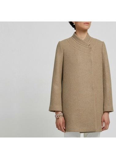 Yargıcı Kadın Panel Detaylı Palto 9KKPL5149X Bej